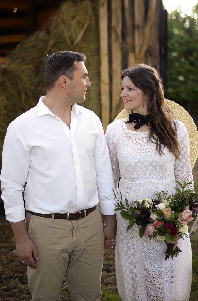 жених и невеста в стиле кантри